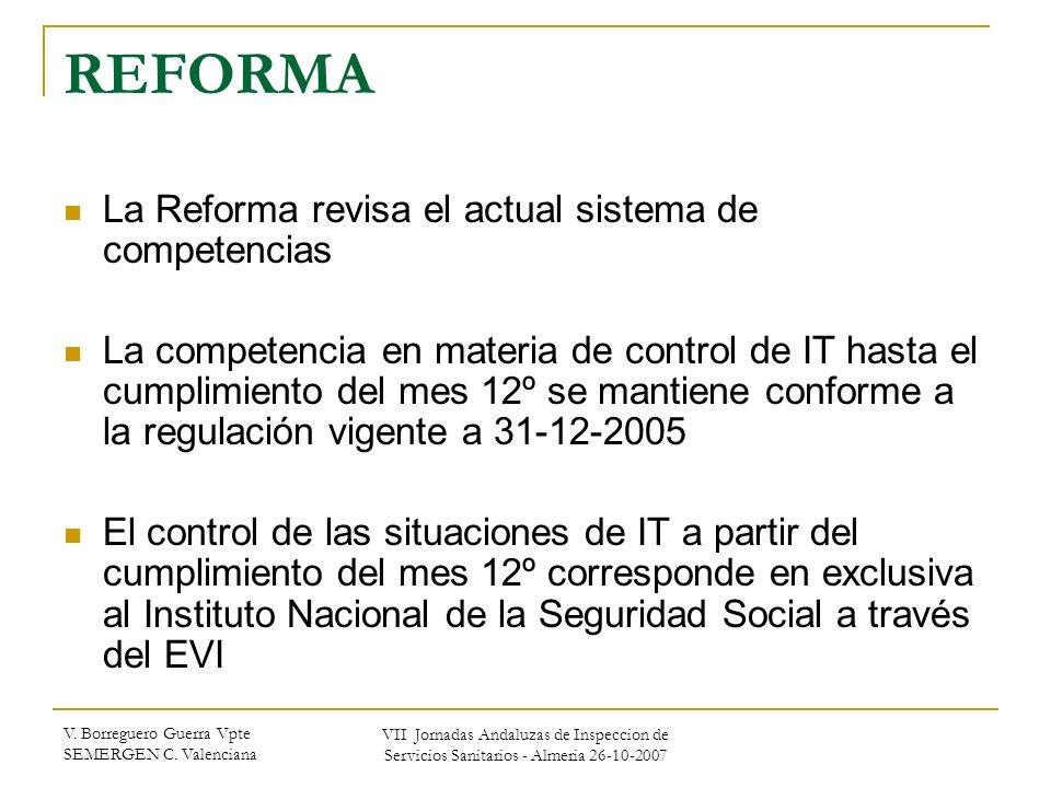 REFORMA La Reforma revisa el actual sistema de competencias