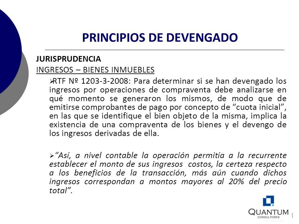 PRINCIPIOS DE DEVENGADO