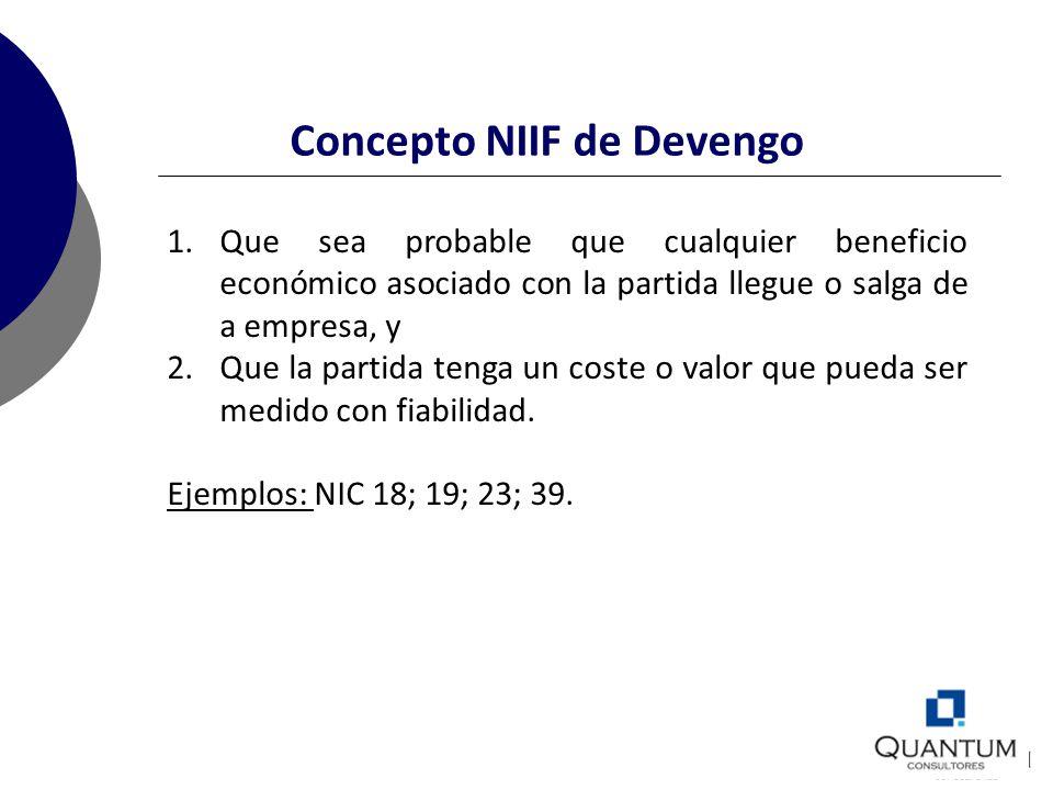 Concepto NIIF de Devengo