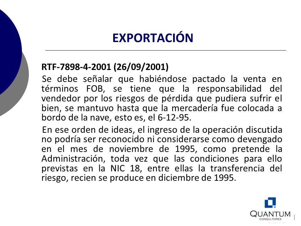 EXPORTACIÓN RTF-7898-4-2001 (26/09/2001)