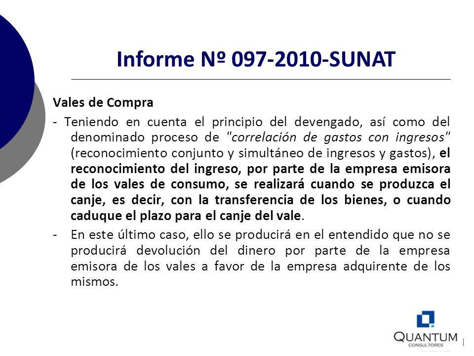 Informe Nº 097-2010-SUNAT Vales de Compra