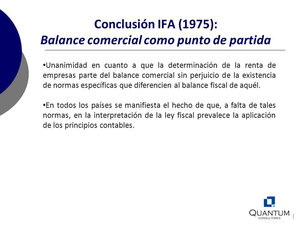 Conclusión IFA (1975): Balance comercial como punto de partida