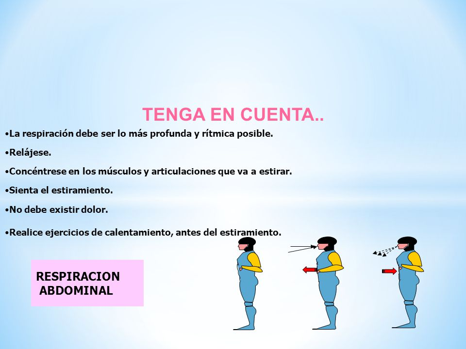 TENGA EN CUENTA.. RESPIRACION ABDOMINAL