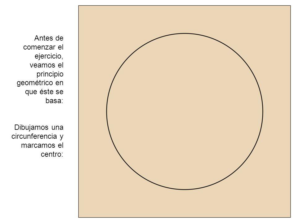 Antes de comenzar el ejercicio, veamos el principio geométrico en que éste se basa: