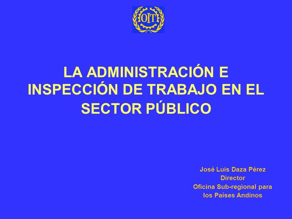 LA ADMINISTRACIÓN E INSPECCIÓN DE TRABAJO EN EL SECTOR PÚBLICO