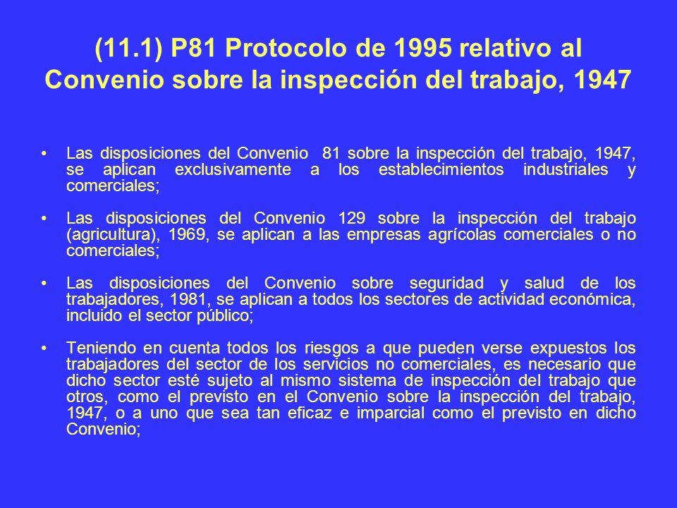 (11.1) P81 Protocolo de 1995 relativo al Convenio sobre la inspección del trabajo, 1947
