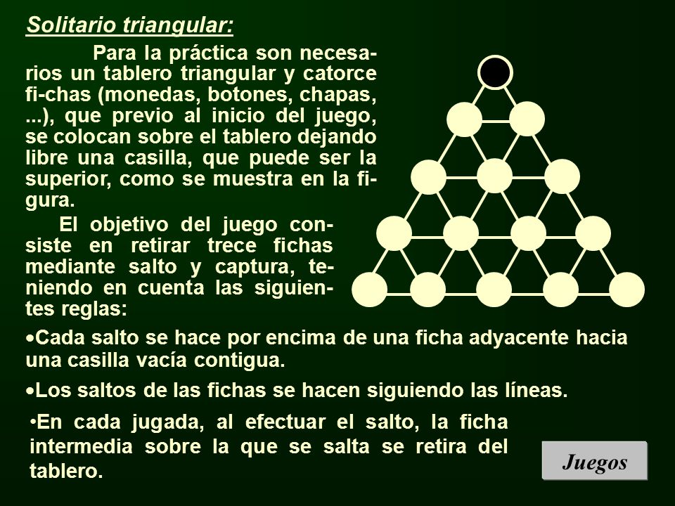 Solitario triangular: