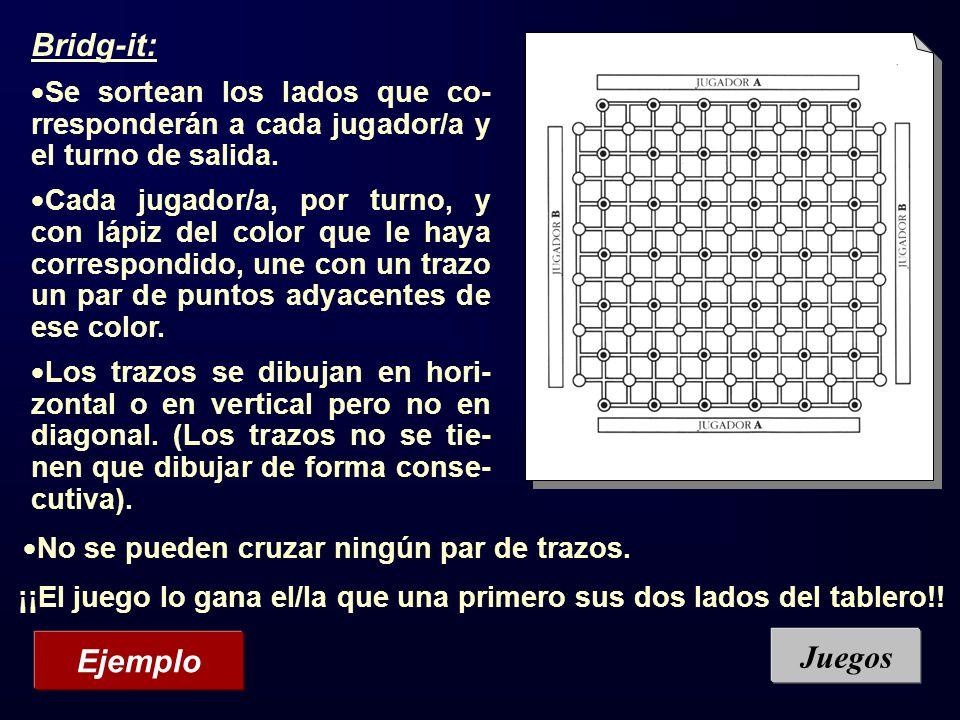 Bridg-it: Juegos Ejemplo