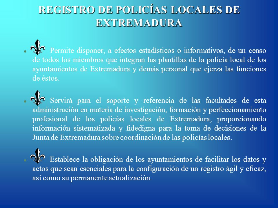 BALANCE ESTADÍSTICO POLICÍA LOCAL EN EXTREMADURA - ppt descargar