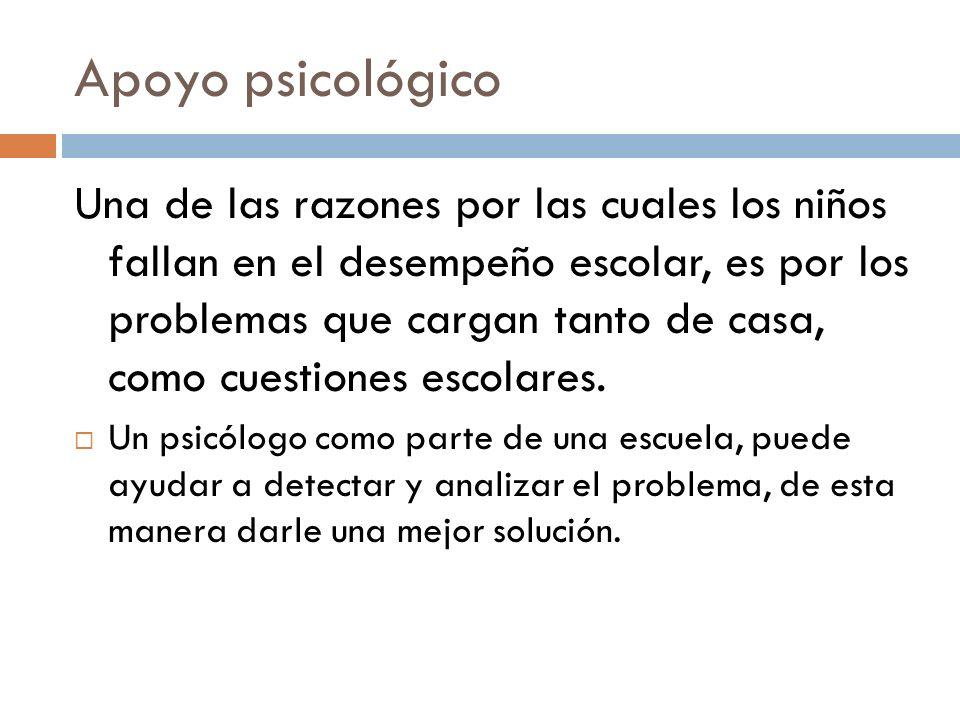 Apoyo psicológico