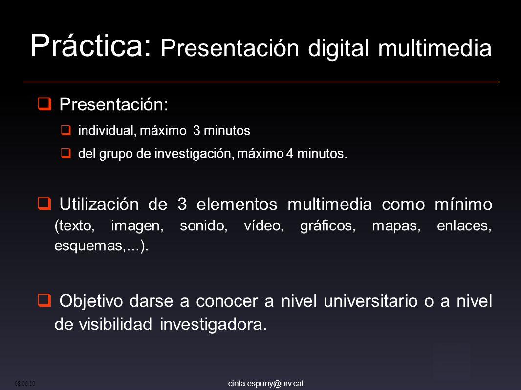 Práctica: Presentación digital multimedia