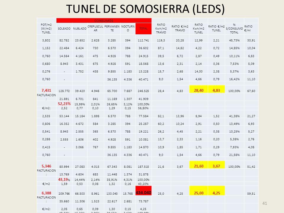 TUNEL DE SOMOSIERRA (LEDS)
