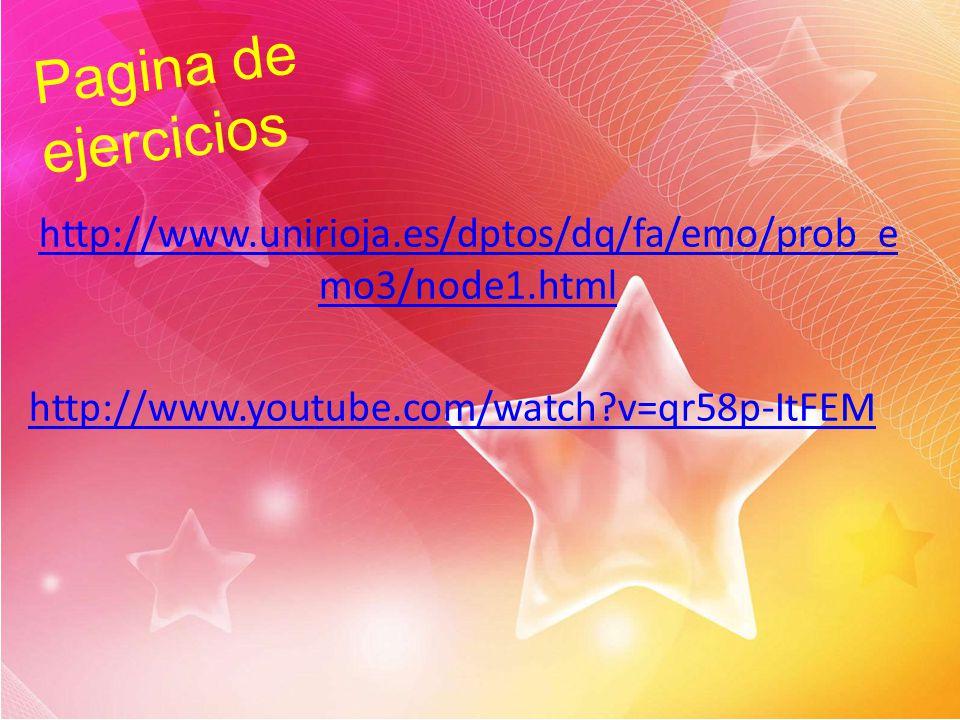 Pagina de ejercicios http://www.unirioja.es/dptos/dq/fa/emo/prob_emo3/node1.html.