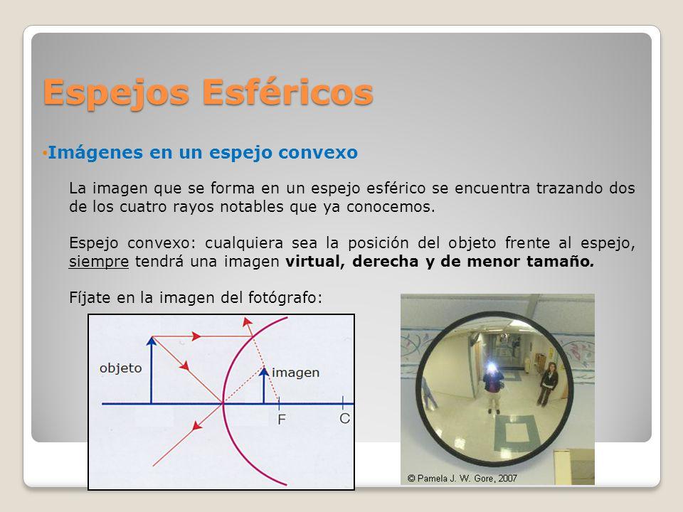 La luz francisco rodr guez c colegio san ignacio ppt for Espejo esferico convexo