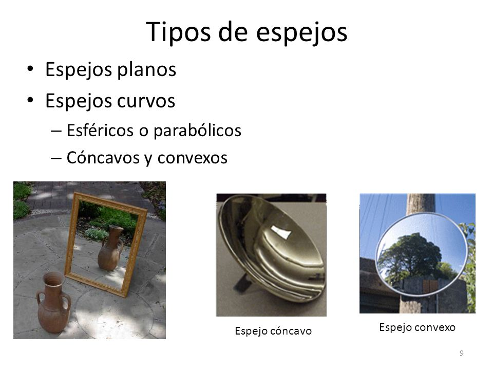 Reflexi n de la luz ppt video online descargar for Espejos curvos concavos y convexos
