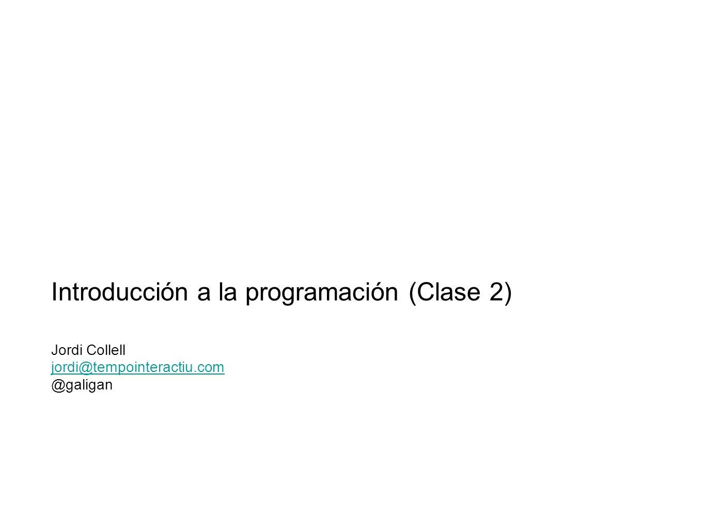 Introducción a la programación (Clase 2)
