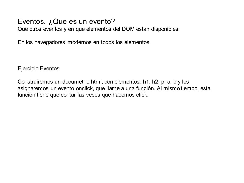 Eventos. ¿Que es un evento