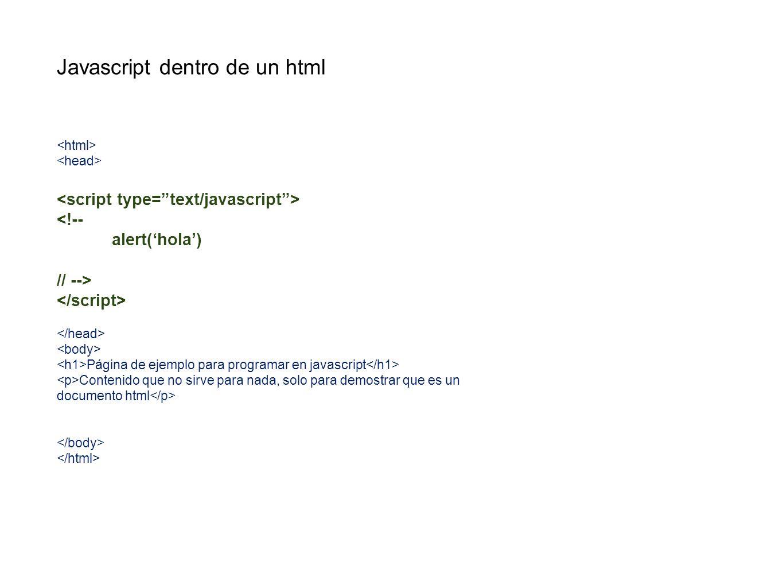 Javascript dentro de un html