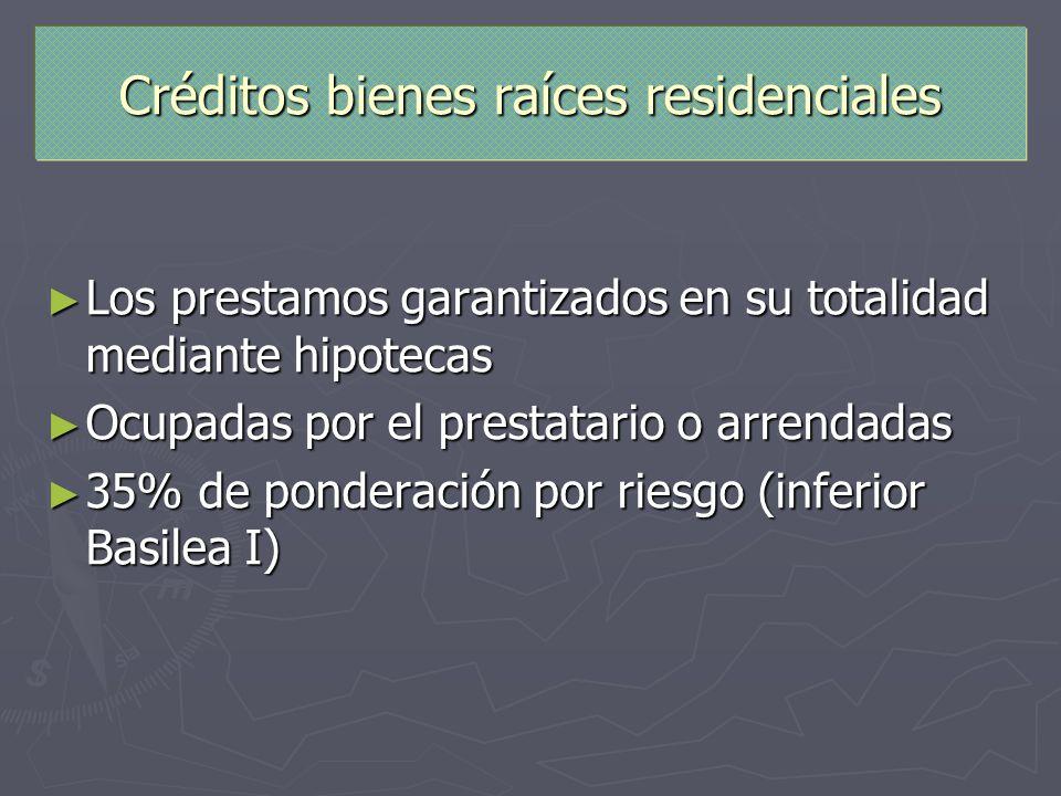 Créditos bienes raíces residenciales