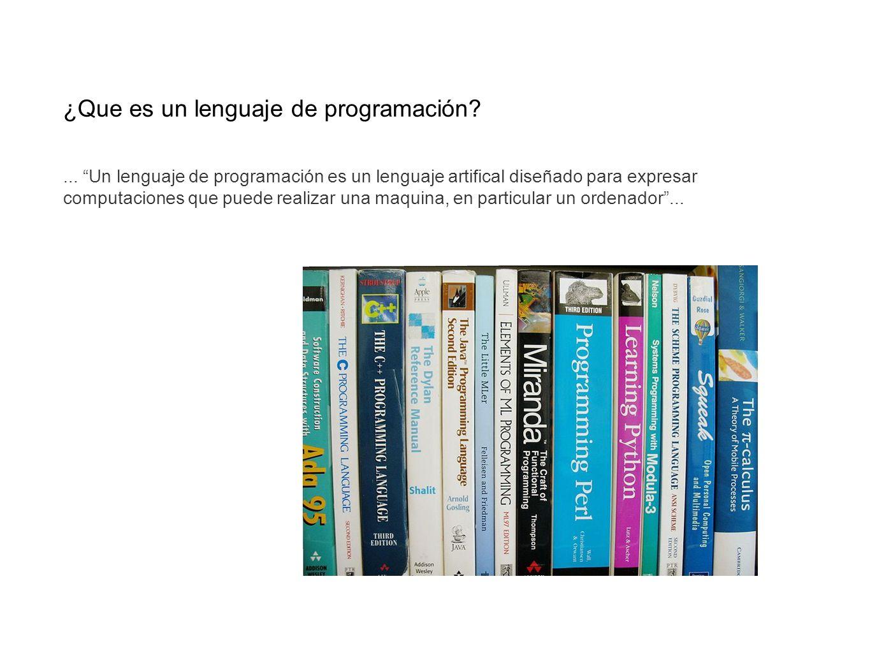 ¿Que es un lenguaje de programación