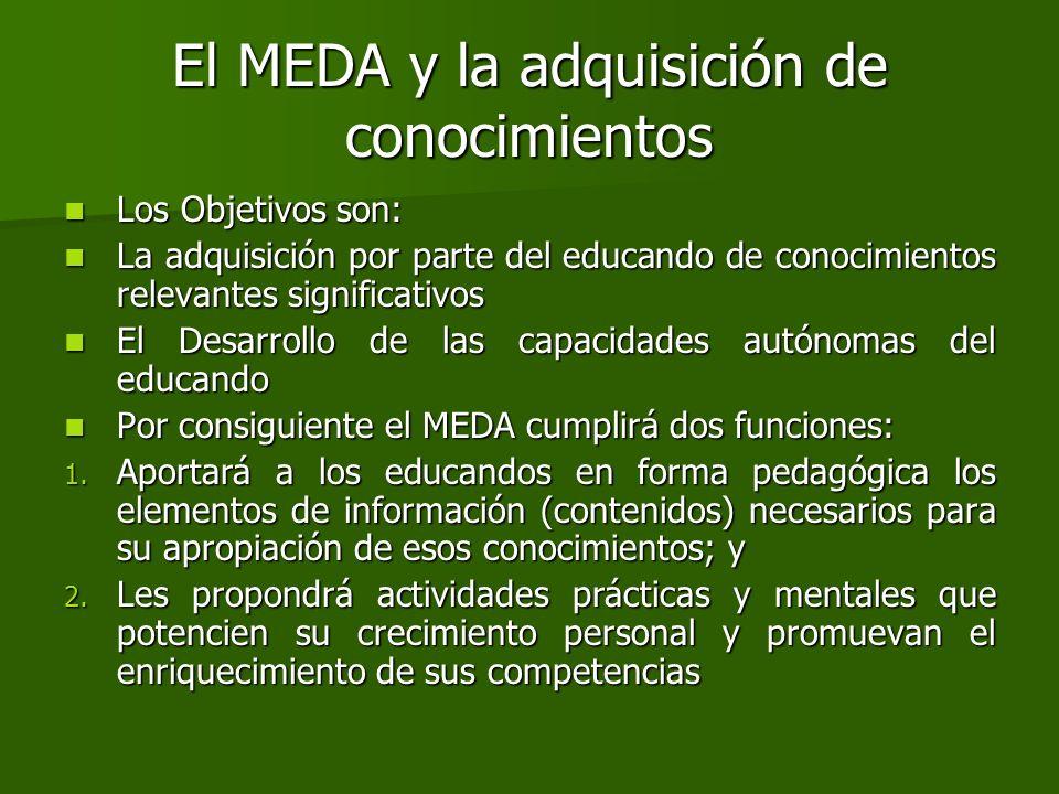 El MEDA y la adquisición de conocimientos