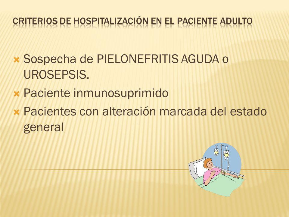 Criterios de Hospitalización en el paciente adulto