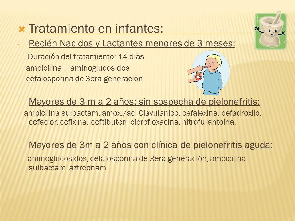 Tratamiento en infantes: