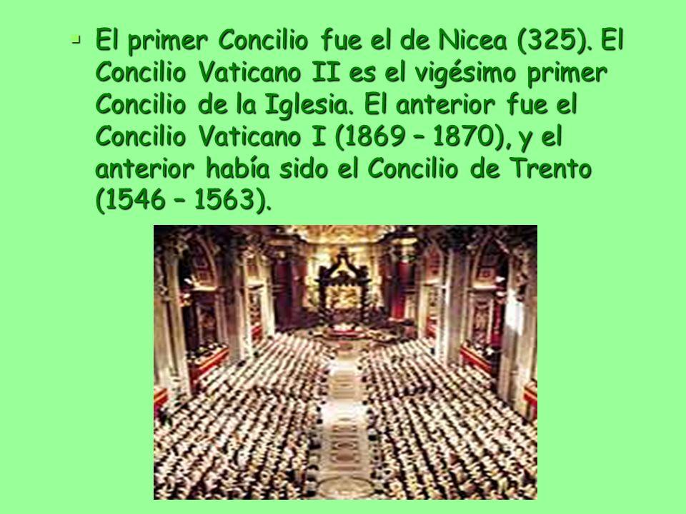 El primer Concilio fue el de Nicea (325)