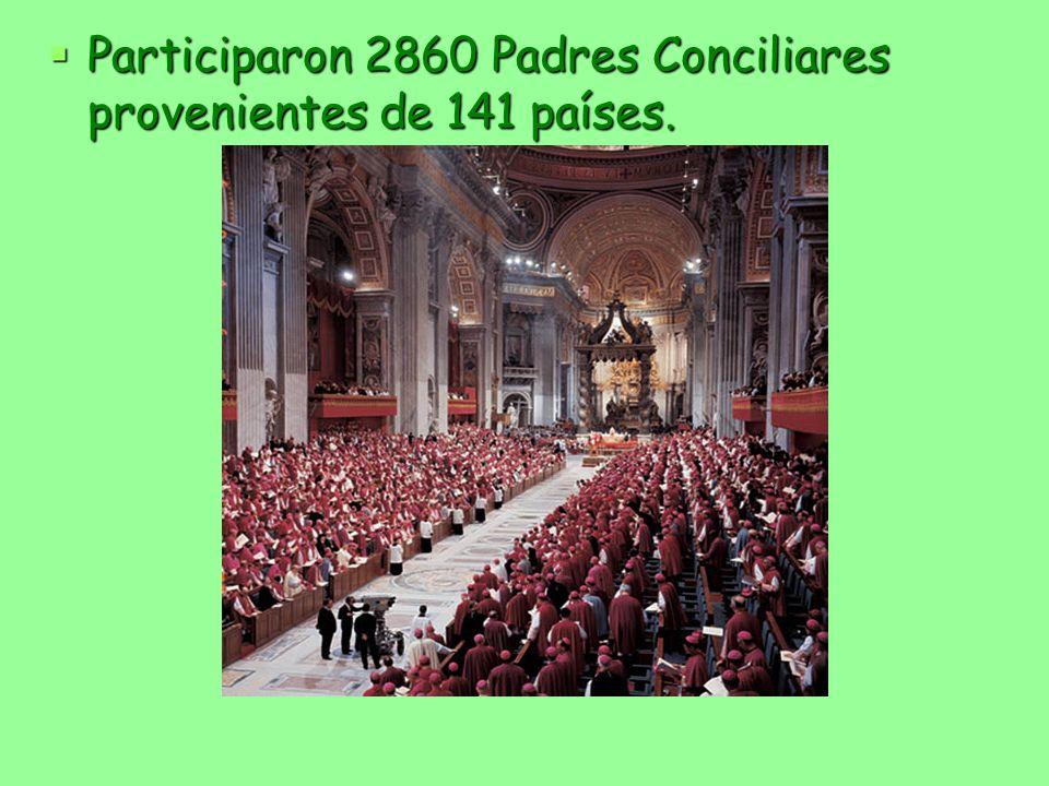 Participaron 2860 Padres Conciliares provenientes de 141 países.