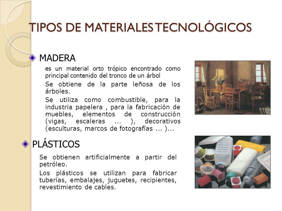 Los materiales tecnicos ppt video online descargar - Tipos de materiales de construccion ...