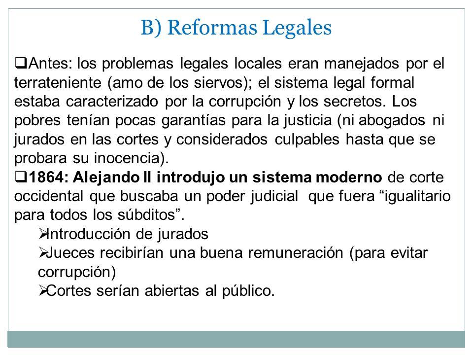 B) Reformas Legales