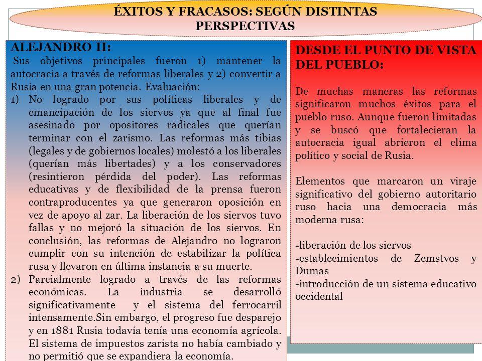 ÉXITOS Y FRACASOS: SEGÚN DISTINTAS PERSPECTIVAS