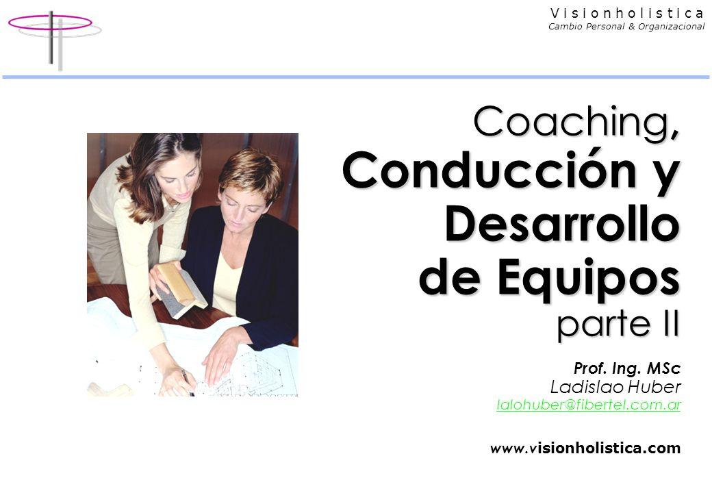 Coaching, Conducción y Desarrollo de Equipos parte II Prof. Ing
