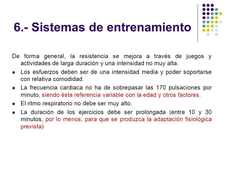 6.- Sistemas de entrenamiento
