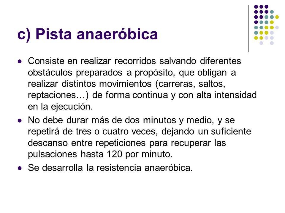 c) Pista anaeróbica