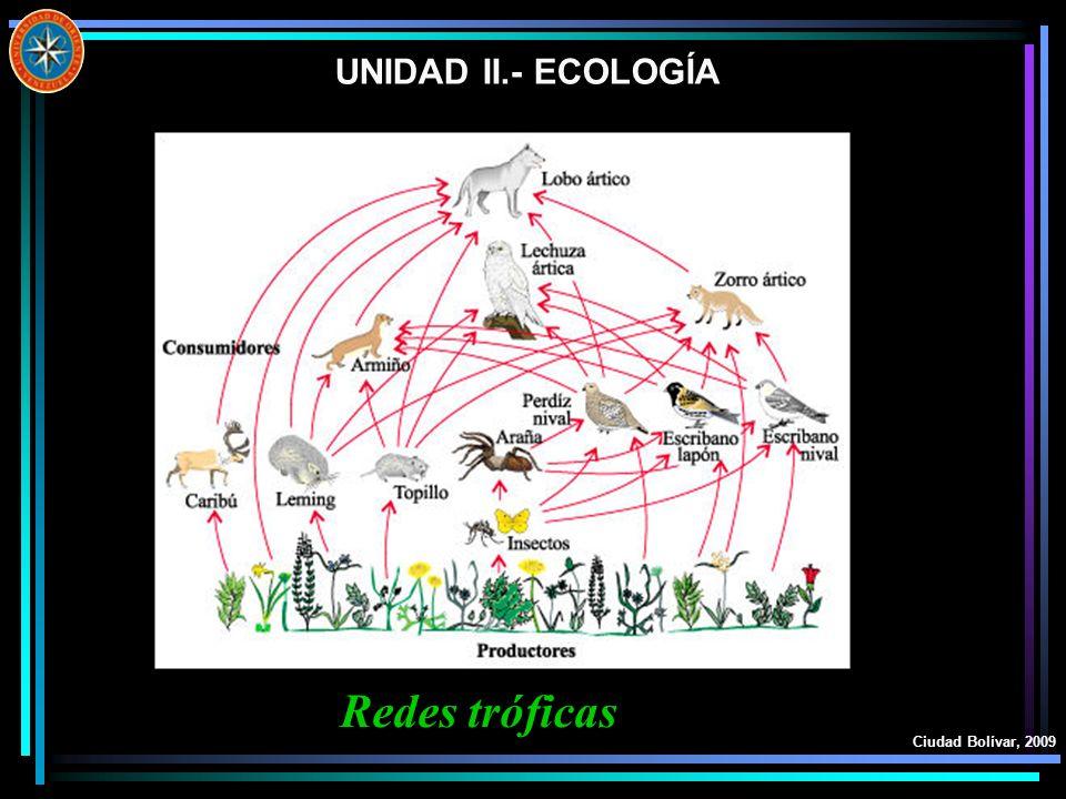 UNIDAD II.- ECOLOGÍA Redes tróficas Ciudad Bolívar, 2009