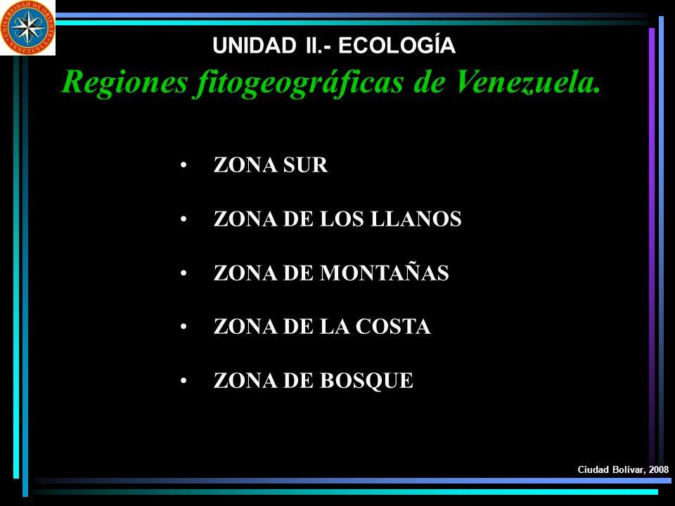 Regiones fitogeográficas de Venezuela.