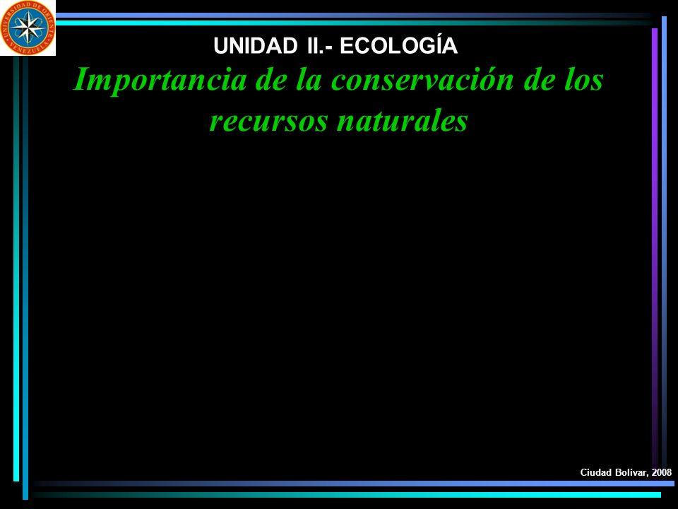 Importancia de la conservación de los recursos naturales