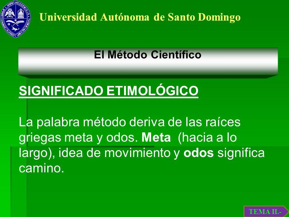 SIGNIFICADO ETIMOLÓGICO
