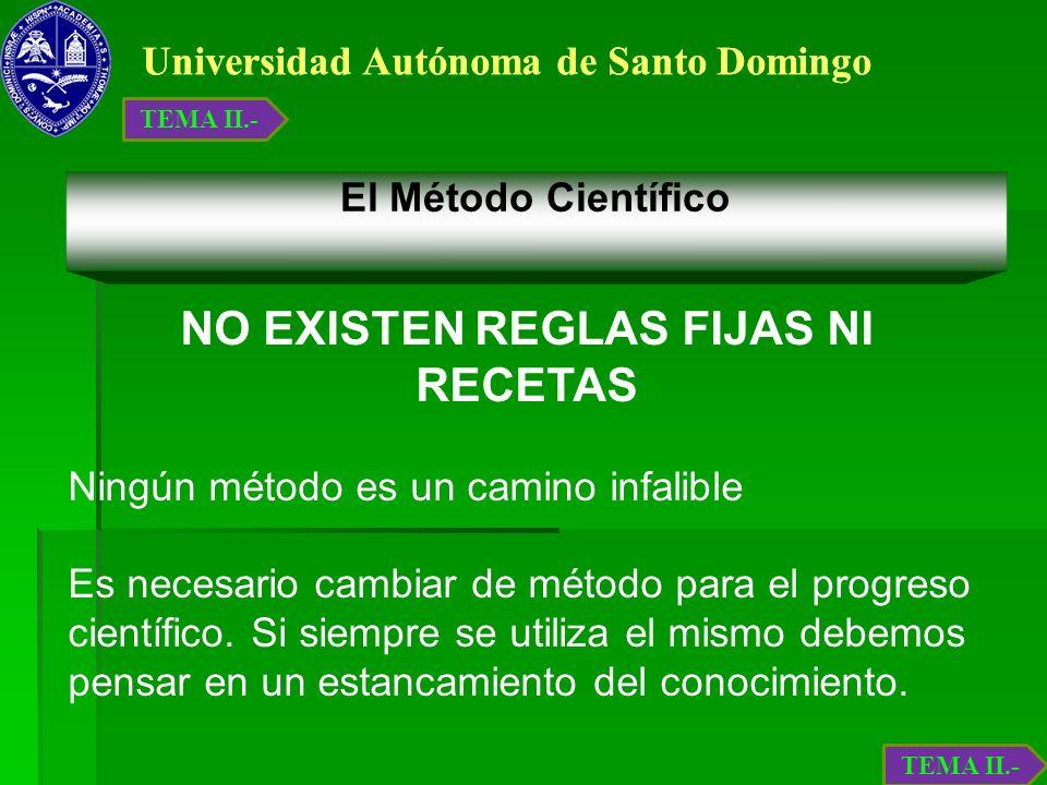 NO EXISTEN REGLAS FIJAS NI RECETAS