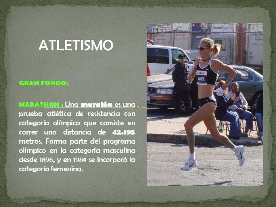 ATLETISMO GRAN FONDO: