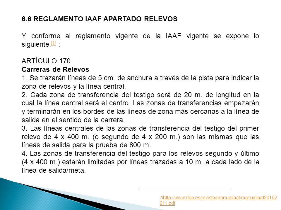 6.6 REGLAMENTO IAAF APARTADO RELEVOS