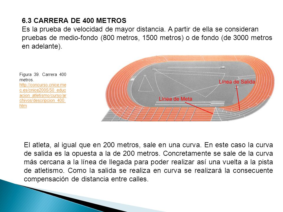 6.3 CARRERA DE 400 METROS