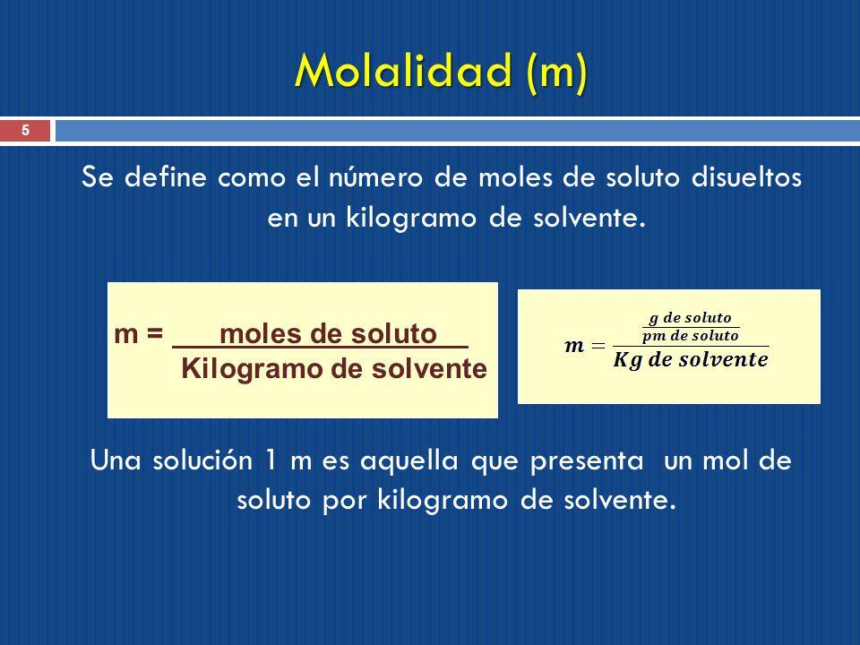 Molalidad (m)