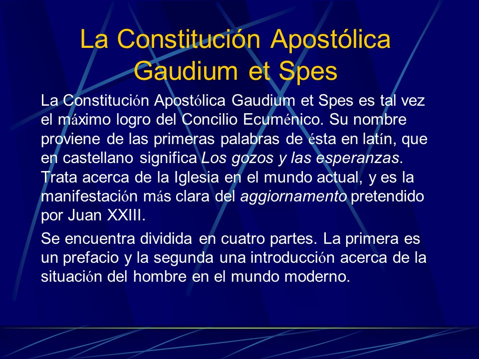La Constitución Apostólica Gaudium et Spes