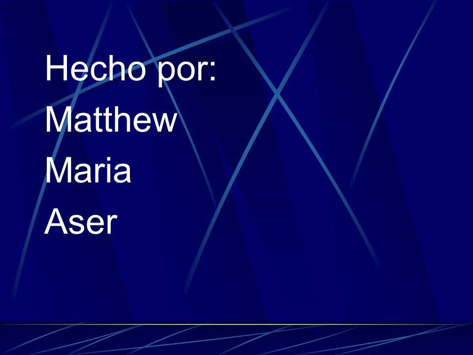 Hecho por: Matthew Maria Aser