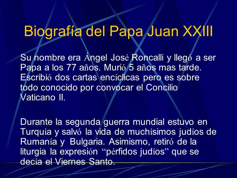 Biografía del Papa Juan XXIII