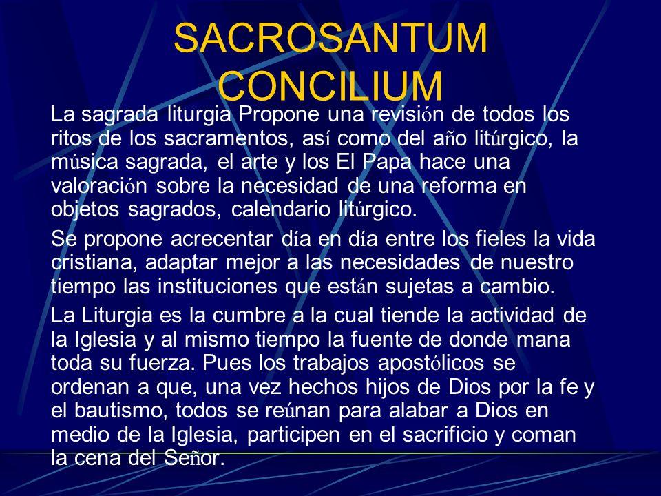 SACROSANTUM CONCILIUM