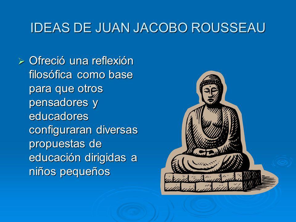 IDEAS DE JUAN JACOBO ROUSSEAU