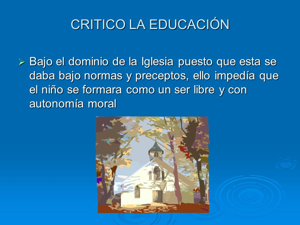 CRITICO LA EDUCACIÓN